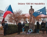 100 LET REPUBLIKY - alegorický průvod k soše TGM