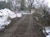 Kanalizace, prosinec 2012 - skrývka pro cestu k ČOV