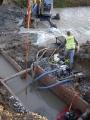 Příprava trasy kanalizace pod řekou_11