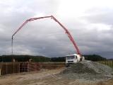 Kanalizace, září 2013, betonování ČOV