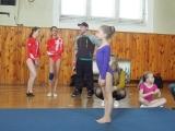 Naši mladí Sokolové na župních gymnastických závodech ve Vysokém Mýtě