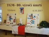 Vernisáž výstavy o TGM na obecním úřadě 4. 10. 2017